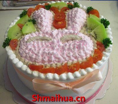 """卡通兔头蛋糕"""""""